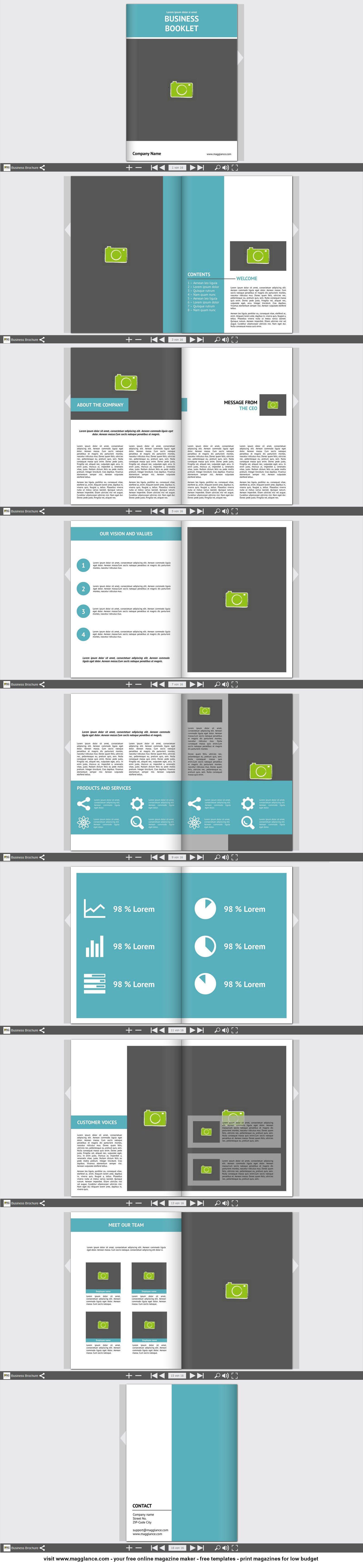 Business Broschüre Kostenlos Online Erstellen Und Günstig Drucken - Online brochure template