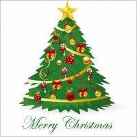 Christmas Tree Vector Illustration 3