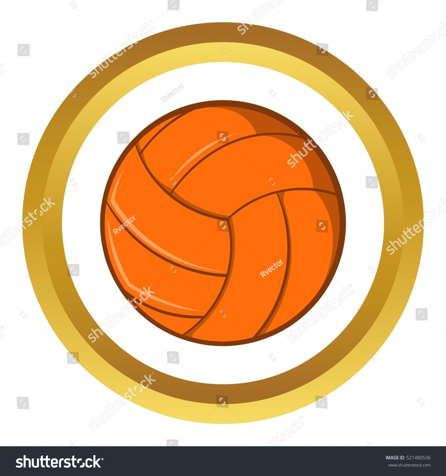 Volleyball Vector Icon In Golden Circle Cartoon Style Isolated On White Background Ad Spon Golden Circle Icon V In 2020 Cartoon Styles Photo Editing Golf School