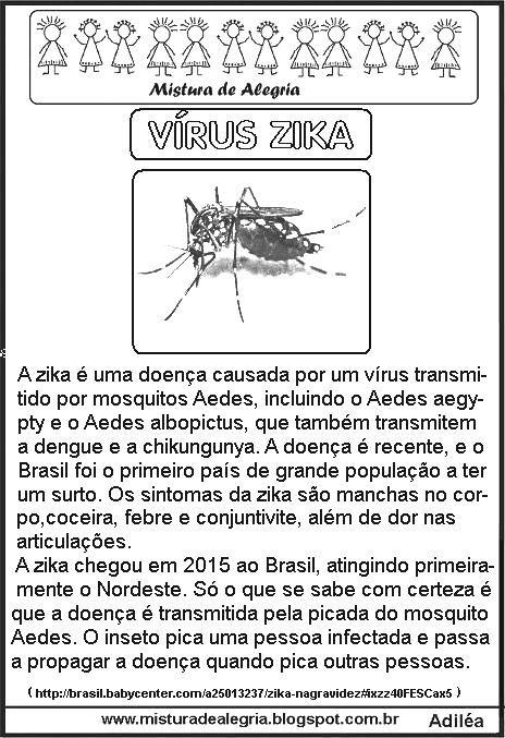 Pin Em Atividades Sobre A Zika Dengue E Chikungunya
