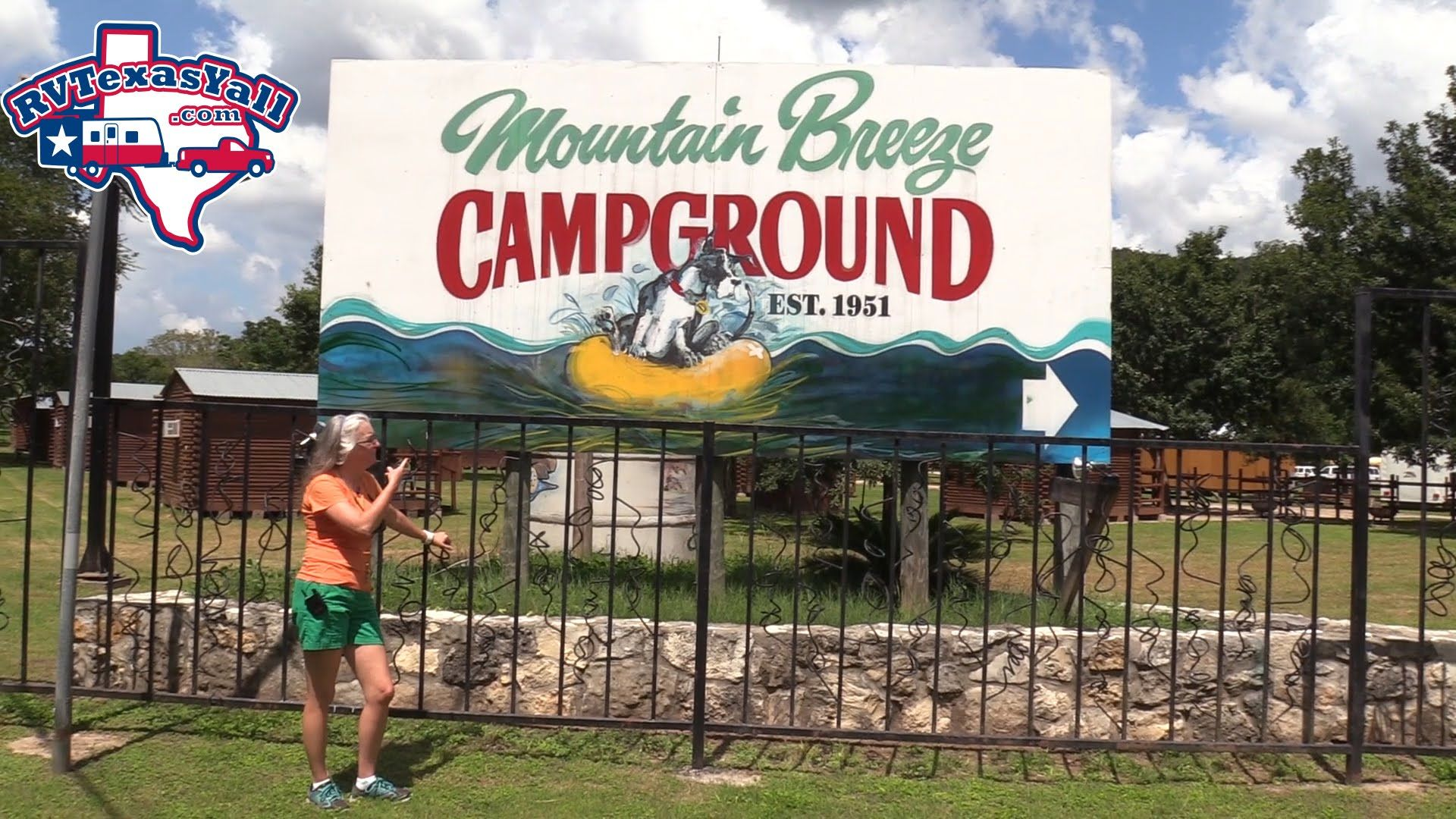 Mountain Breeze Campground New Braunfels Tx Campground Tour Rv Texas Y All Visits Mountain Breeze And Takes Y Camping In Texas Campground Texas State Parks