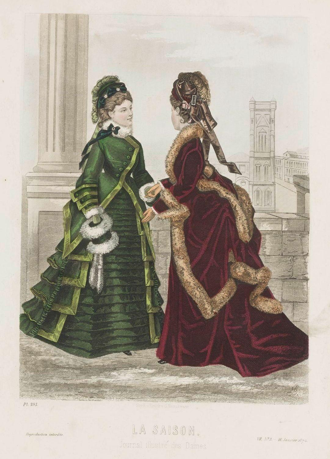 La Saison 1874 | 1874s fashion plates | Pinterest | Modezeichnungen ...