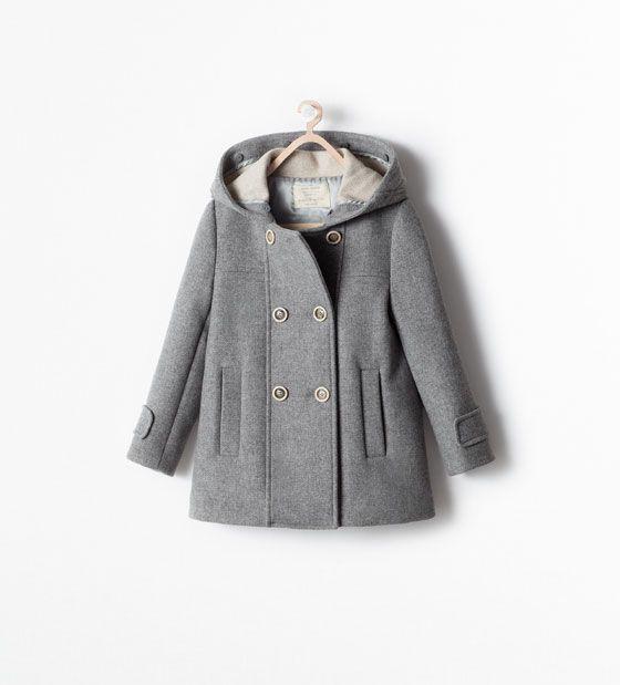 Zara Kids Coat With Detachable Fur Hood Mantel Kinder Zara Mantel Zara Kinder