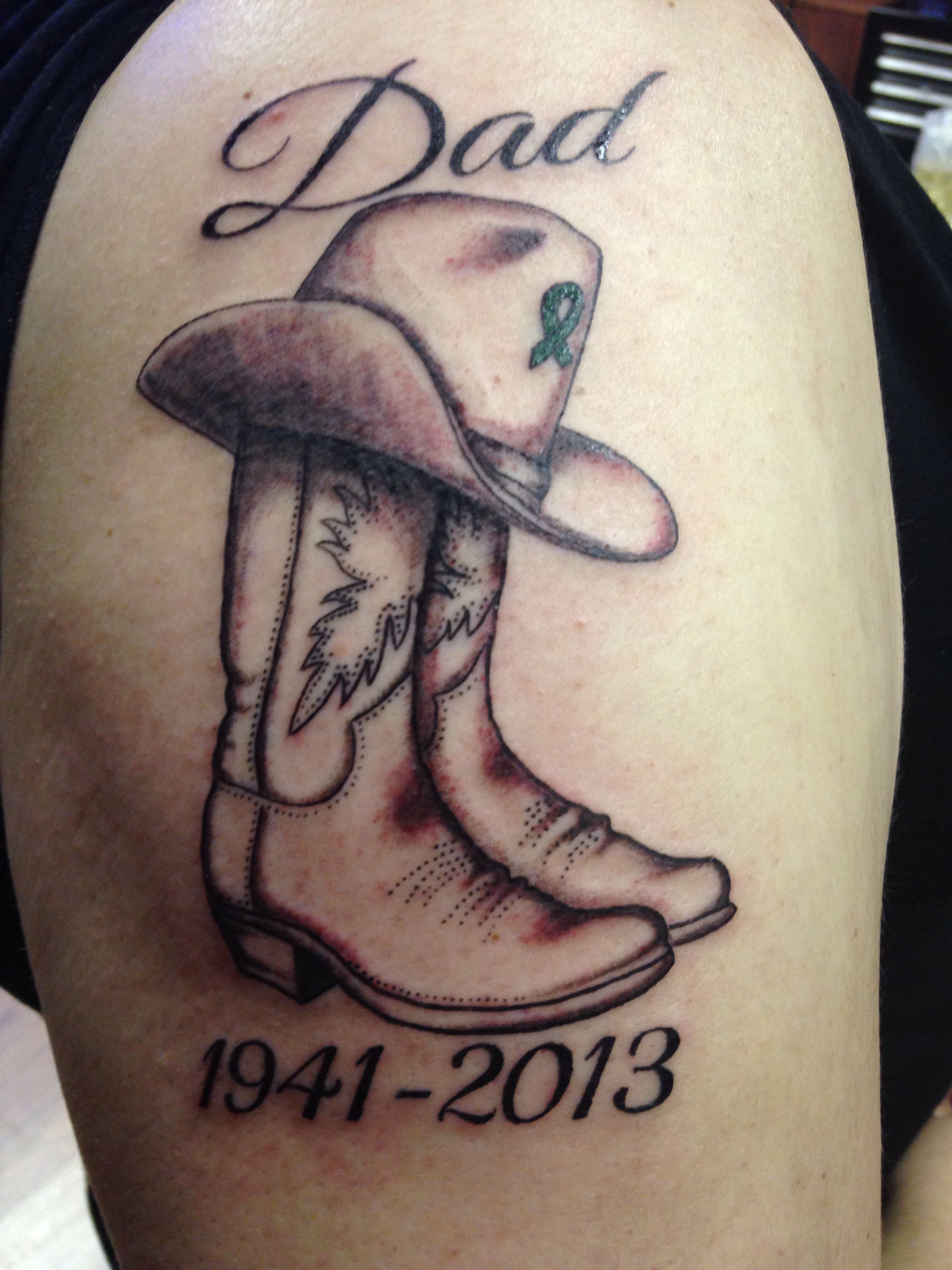 Remembrance Tattoos For Dad: Cowboy Tattoos, Tattoos For Daughters