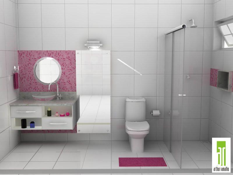 banheirosfemininosdecoracao  banheiros  Pinterest  Banheiro feminino, De -> Decoracao De Banheiros Com Artesanato