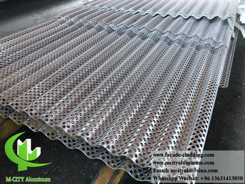 Waved Aluminum Sheet Perforated Metal Sheet For Wall For Cladding For Facade Aluminium Cladding Cladding Perforated Metal Panel