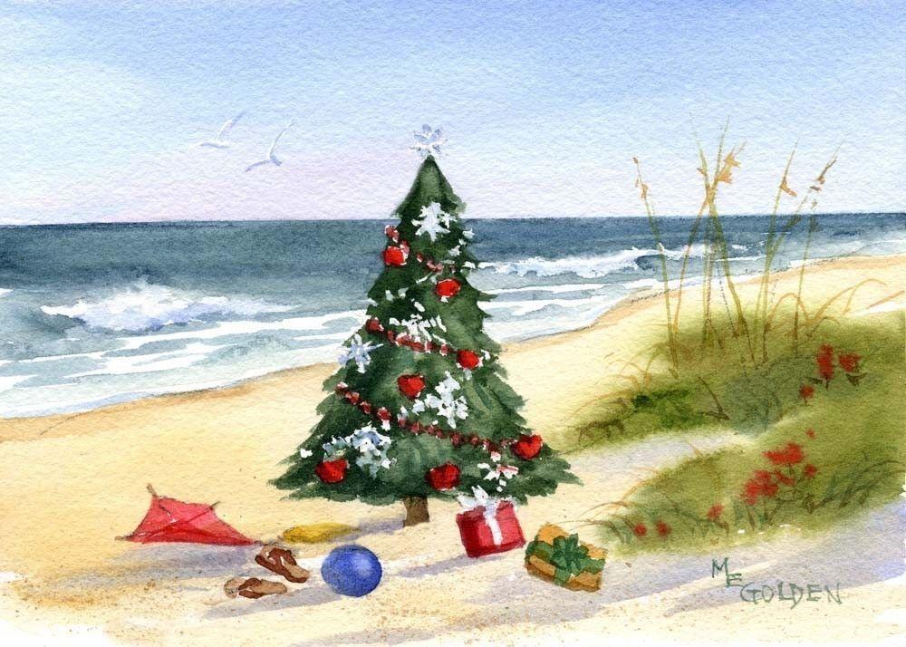Christmas at the Beach Christmas Pinterest Christmas, Beach