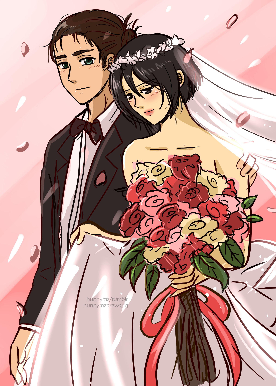 eremika wedding (votes from ig) en 2020 Kyojin, Shingeki