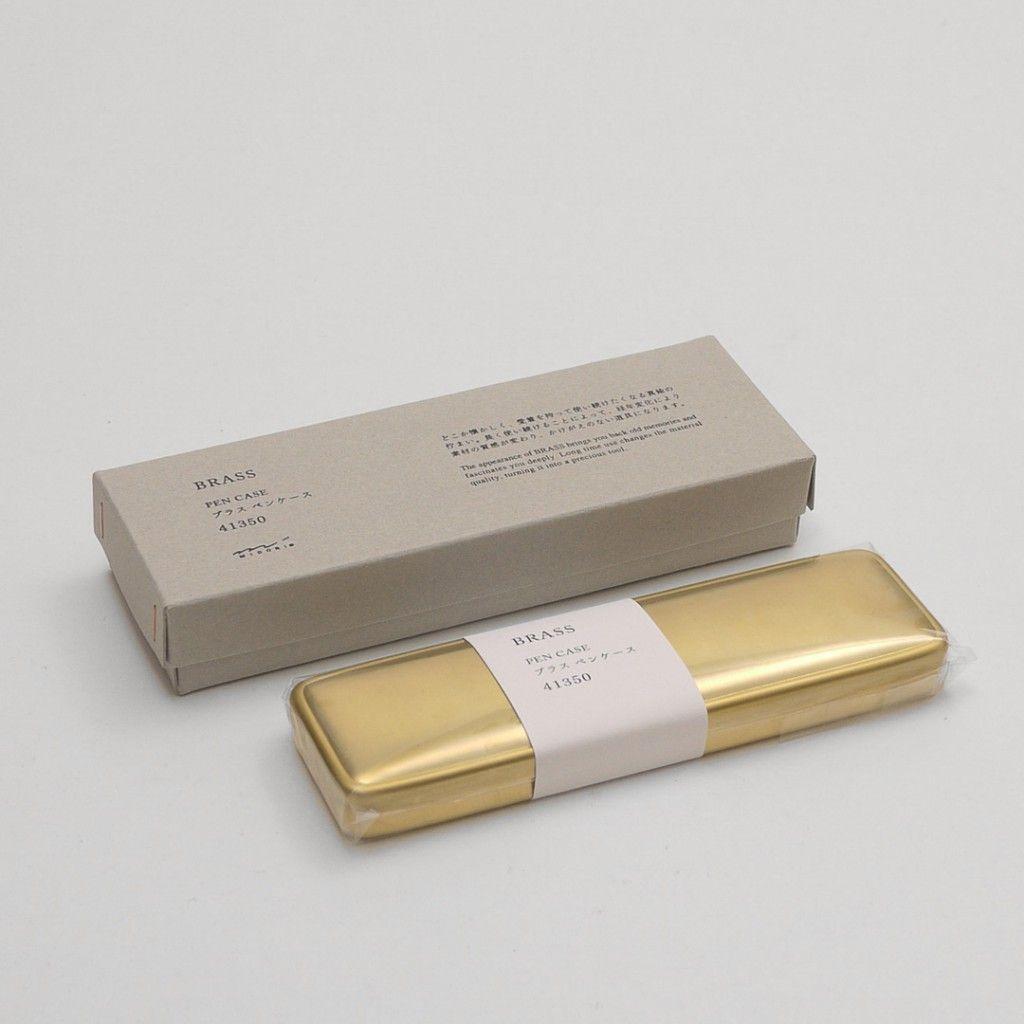 Pen case Midori brass