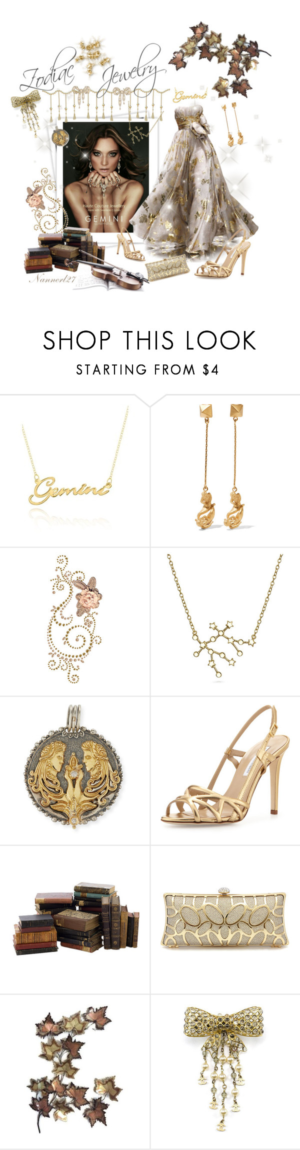 """Gemini for ever..."" by nannerl27forever ❤ liked on Polyvore featuring GALA, Zuhair Murad, Belk & Co., Valentino, Bling Jewelry, Konstantino, Diane Von Furstenberg and Chanel"
