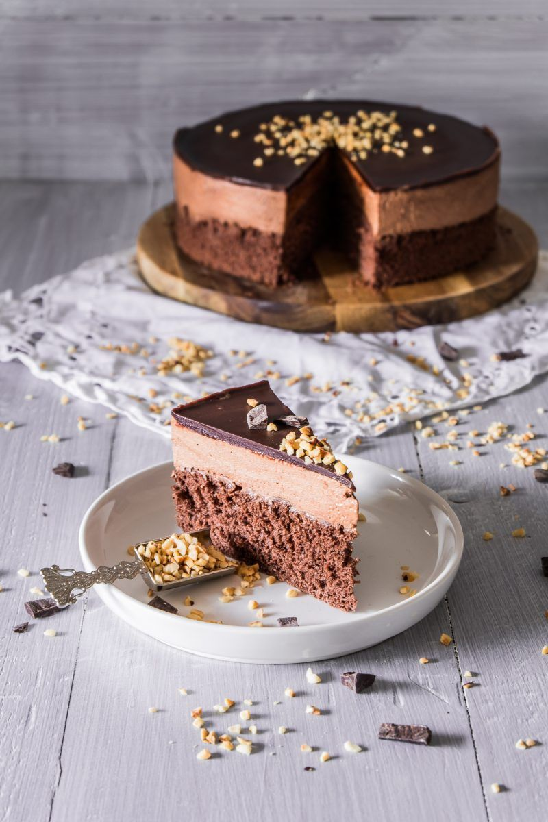 Schokoladen Mousse Kuchen Rezept Mousse kuchen, Kuchen