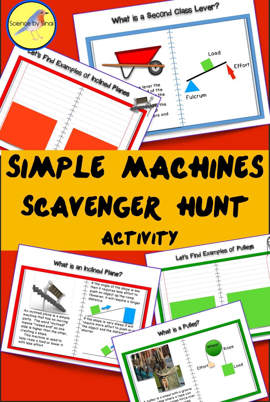 Simple Machines Schoolyard Backyard Scavenger Hunt