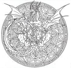 Wizard And Dragon Coloring Pages For Adults