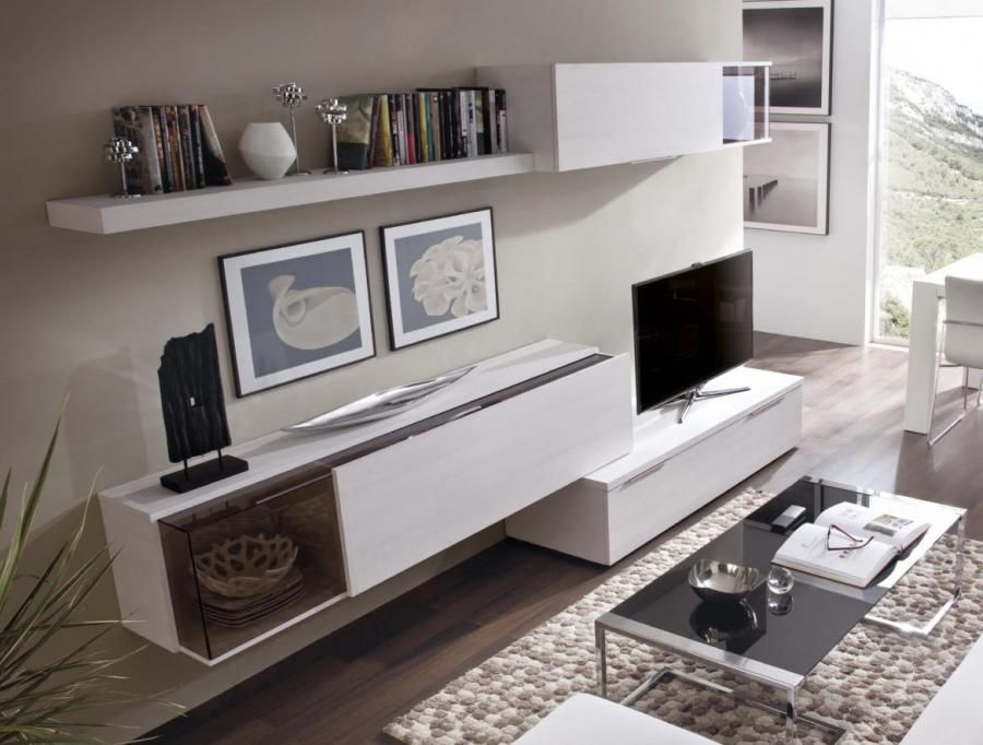 Rimobel Modern Wall Storage System Display Cabinets And TV Unit