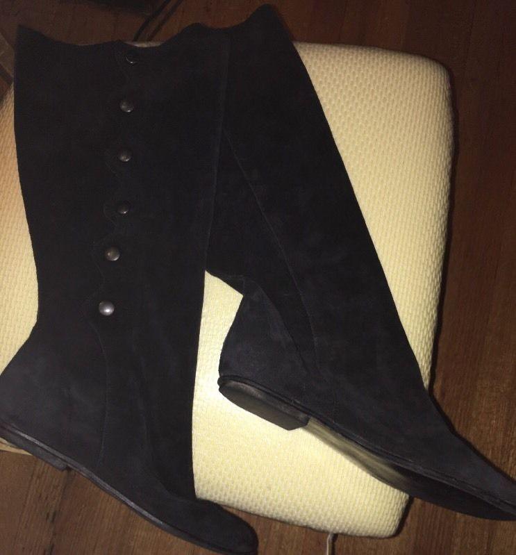 Steve Madden Becri Black suede boots Sz 8 Made In Spain    eBay