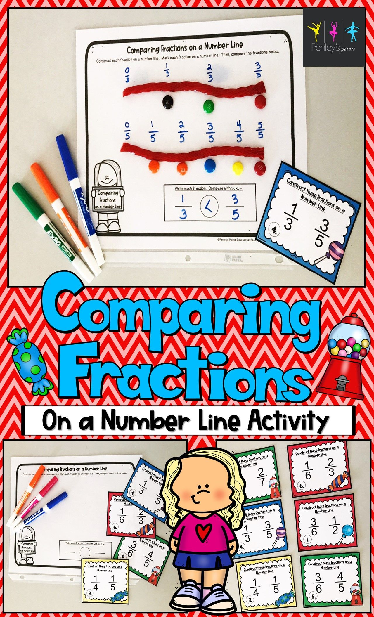 Comparing Fractions On A Number Line Activity In