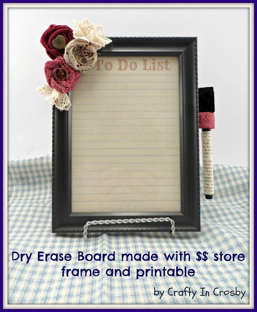 Crafty in Crosby: Dry Erase Boards with $$ Store Frames | Crafts ...
