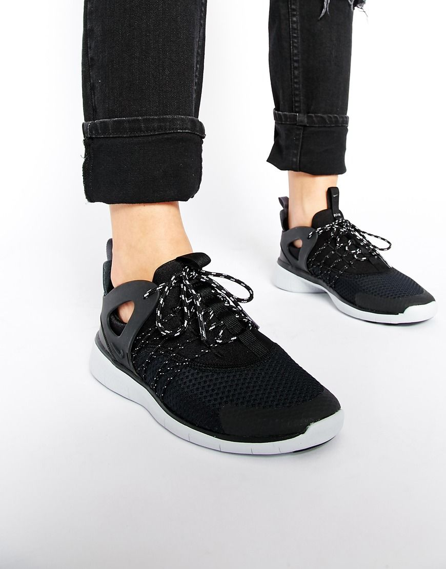 Shoes Outlet - Nike Free Viritous Black Womens Trainers