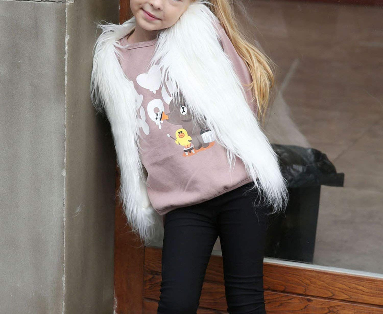 Kid Stylish Fur Vest Girl Autumn Winter Faux Fur Waistcoat Thick Coat Warm Outwear, #Ad #Vest, #Girl, #Autumn, #Kid