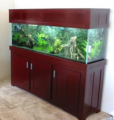 Aquarium Stand And Canopy Fits 125 Gallon Sold