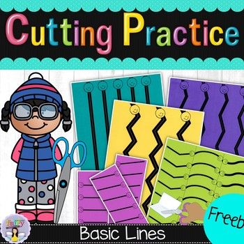 These cutting practice worksheets are great for children who are ...