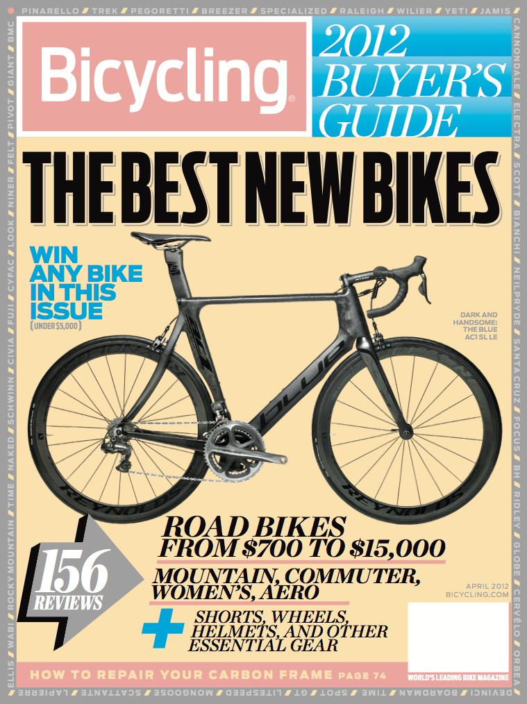bicycling magazine s 2012 buyers guide blue bikes right on the rh pinterest com mountain bike magazine buyers guide bicycle magazine buyers guide 2016
