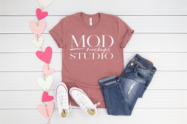 Download Download Free Valentine T Shirt Mockup Heather Mauve Bella Canvas 3001 Psd Free Psd Mockups Clothing Mockup Shirt Mockup Valentine T Shirts
