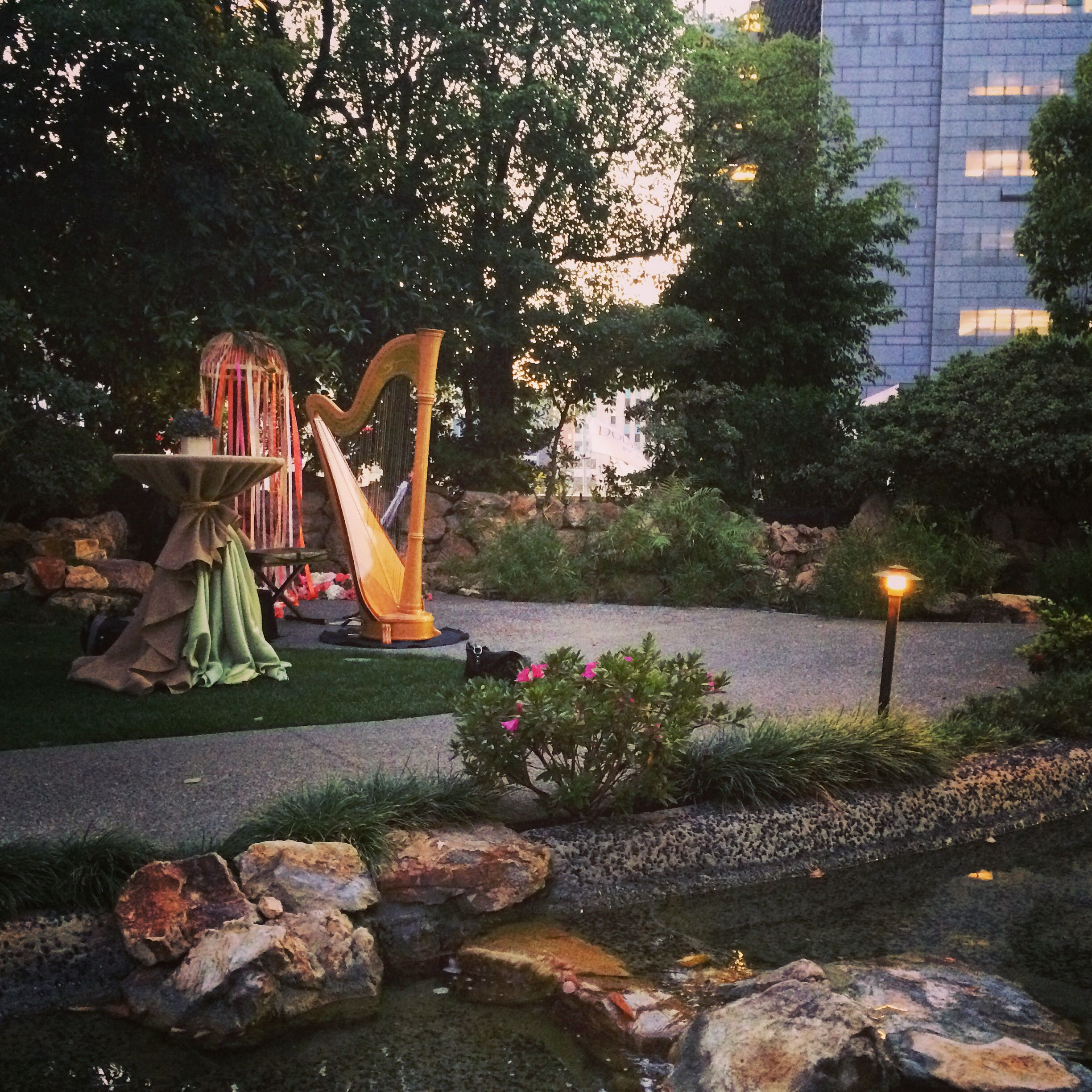 The Kyoto Gardens Of The Doubletree Hilton Hotel In Downtown L. Is Such A  Hidden Oasis To Get Married At. A Fairy Garden In The Middle Of The City.