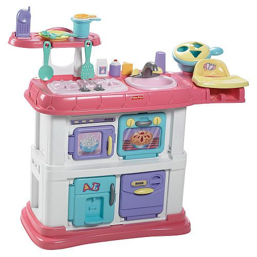 Fisher price grow with me cook and care kitchen pink for Kitchen set at toys r us