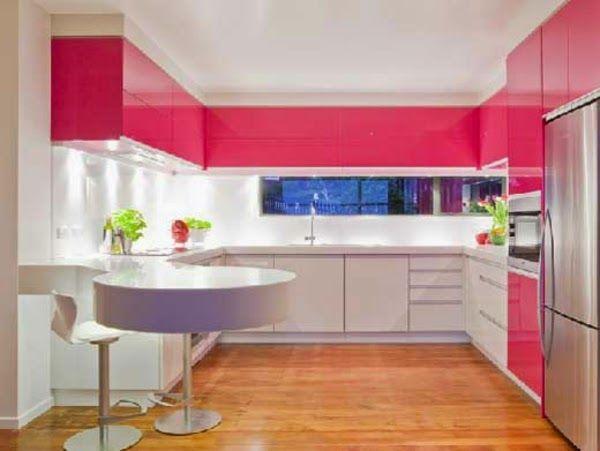 Bright Kitchen Color Ideas Bright Kitchen Design Pink Upper