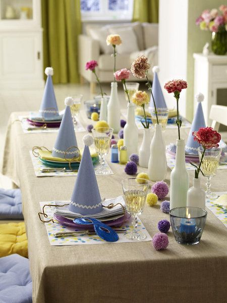 Bunter Karneval Tisch Tischdeko Pinterest Table Decorations