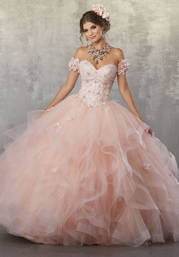 Strapless Lace Quinceanera Dress by Mori Lee Vizcaya 89174 ...