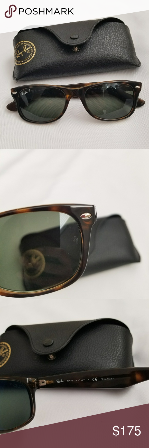 716d1e3bbf Ray-Ban New Wayfarer Classic Polarized RB2132 New wayfarer classic Model  code  RB2132 902 58 52-18 💯 authentic. (See 2nd   4th photos of the etched