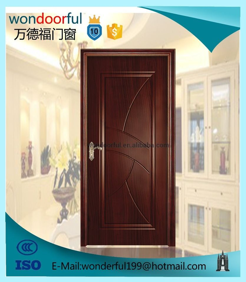Low price china best selling simple teak wood door designs for Door design nigeria