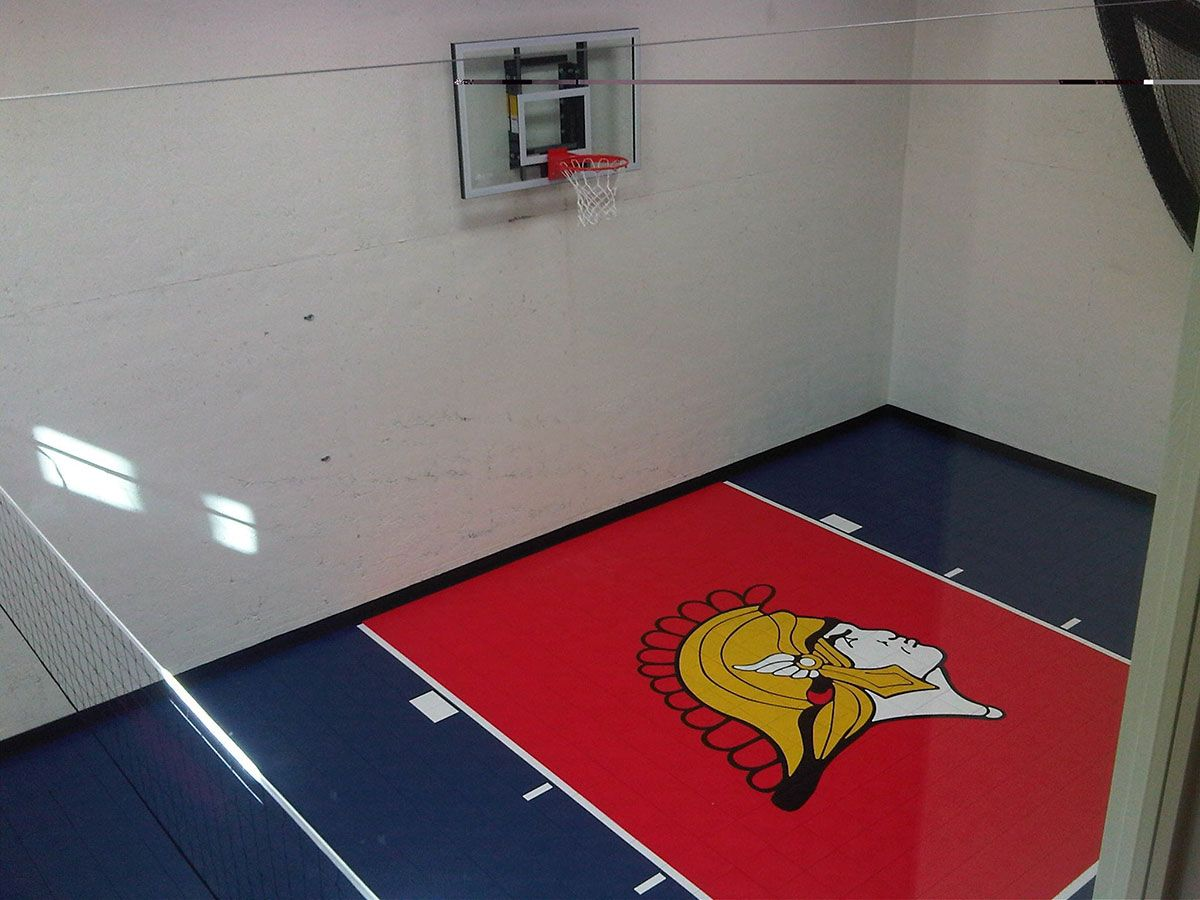 Orono home basketball gym At home gym, Backyard sports