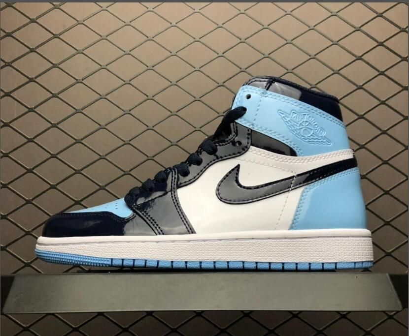 98127917525 2019 New Air Jordan 1 UNC Patent Leather Shoes To Buy