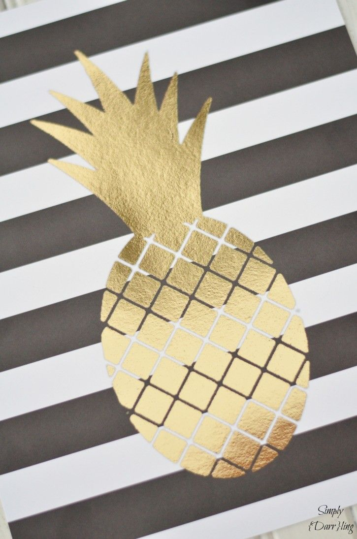 Gold pineapple canvas | DIY crafts | Pinterest | Canvases, Gold and ...