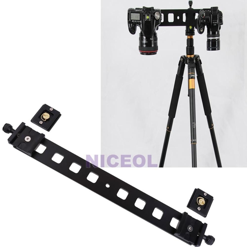 Double Camera Plate with Quick Release Plates for 38 inch Tripod 46cm