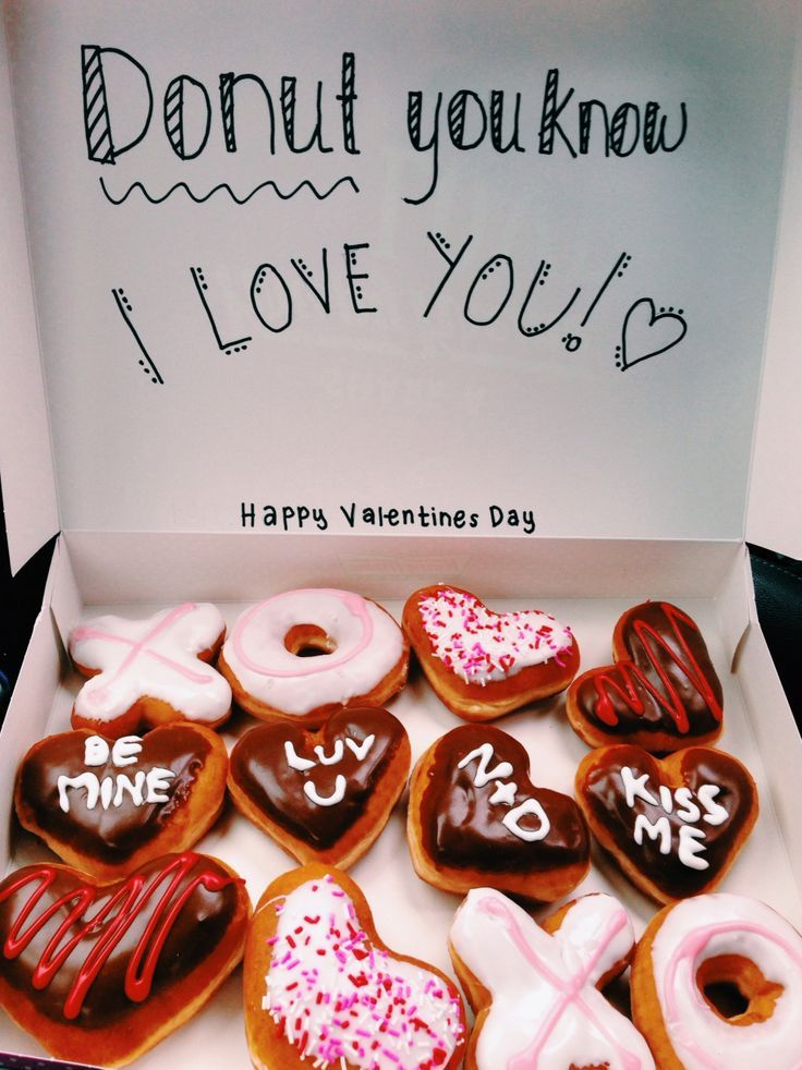 Personalize Krispy Kreme donuts with icing! valentinesday