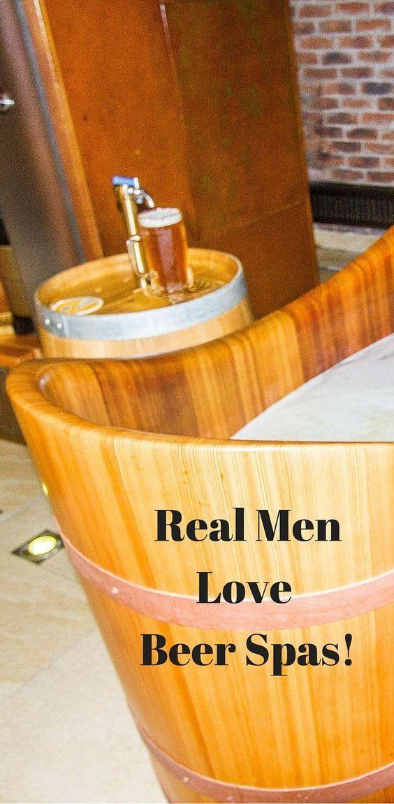 Real Men Love Beer Bath Spas Reflections Enroute Beer Spa Healthy Beer Beer Bath