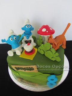 Doces Opções: Os Smurfs no aniversário do Gonçalo