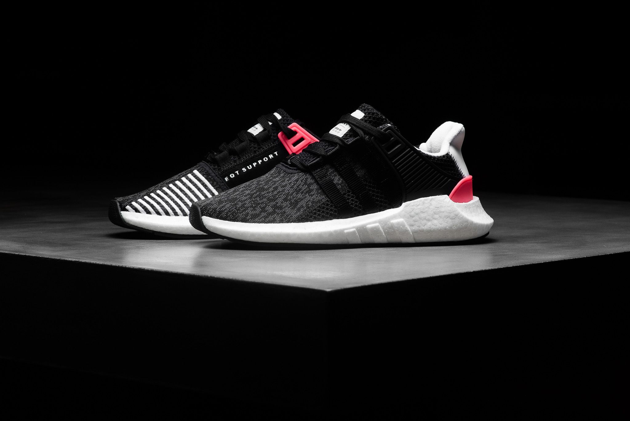 Adidas EQT Support 93/17 - Black/Turbo Red