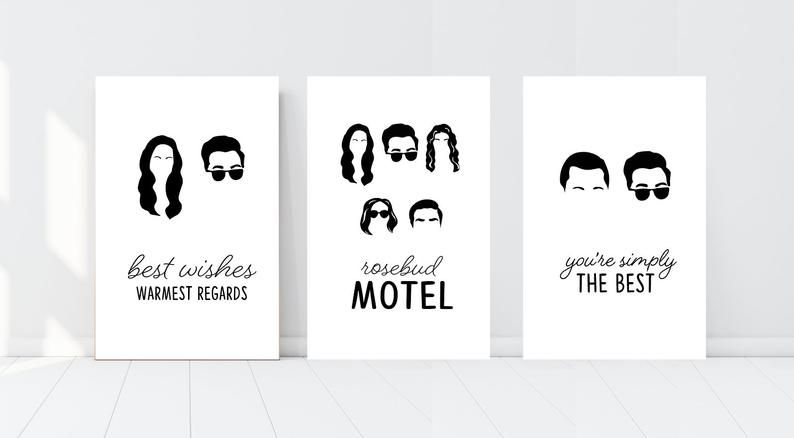 Schitt S Creek Posters Dorm Bedroom Home Decor Wall Art Johnny Moira David Alexis Stevie Patrick Characters Quotes Rosebud Motel Schitts Creek Etsy Wall Art Save The Date Designs