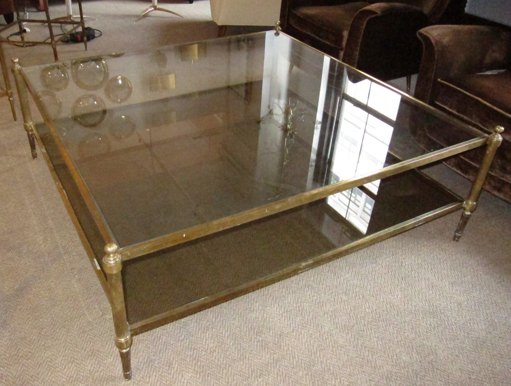 Oversized Square Glass Coffee Table