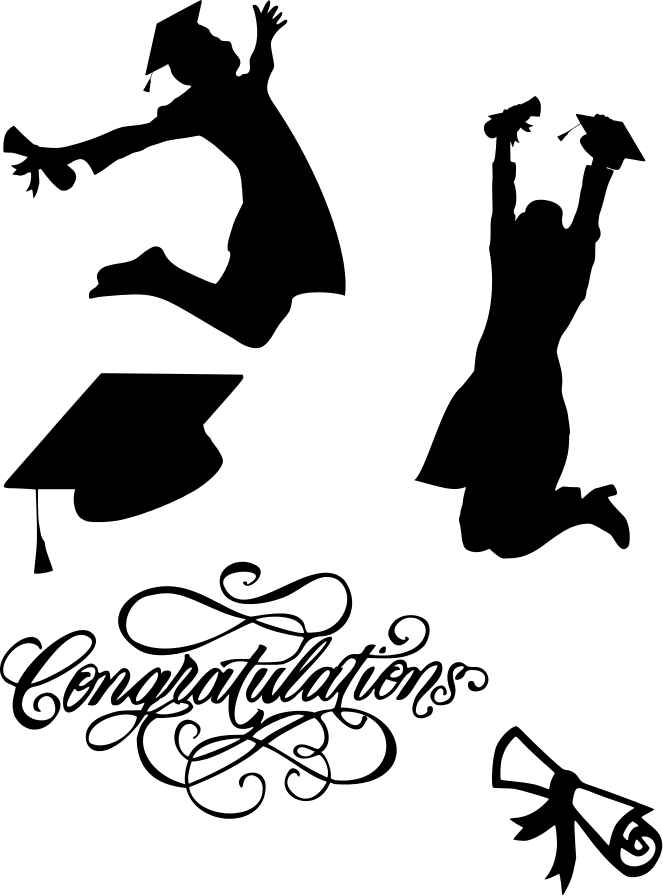 the lady wolf graduate silhouettes svg graduation ideas