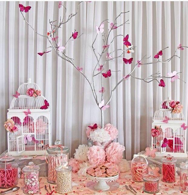 Bird Cage Butterfly Baby Shower Baby Shower Dessert Table Baby Shower Desserts