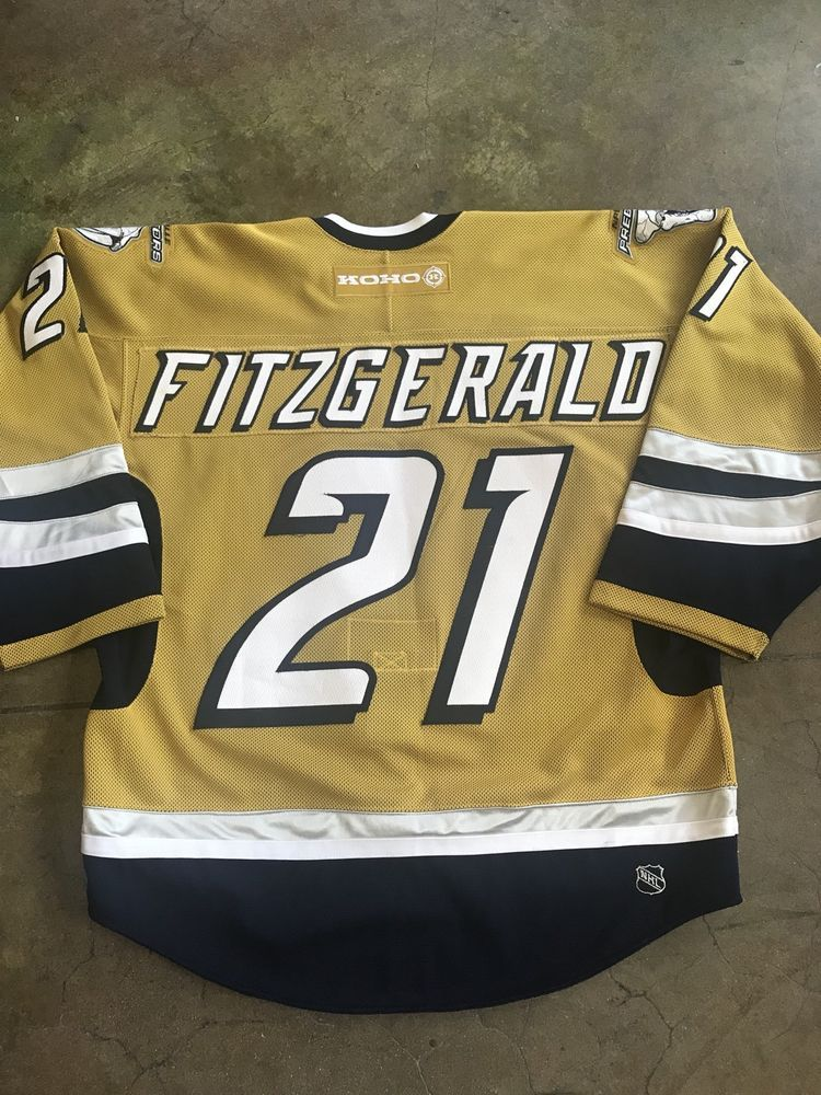 b98027452 Authentic Nashville Predators Fitzgerald NHL jersey KOHO fight strap 54  Mustard (eBay Link). Find this ...