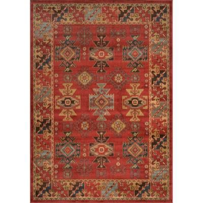 Home Decorators Collection Clic Red 5 Ft 2 In X 7 6 Area Rug