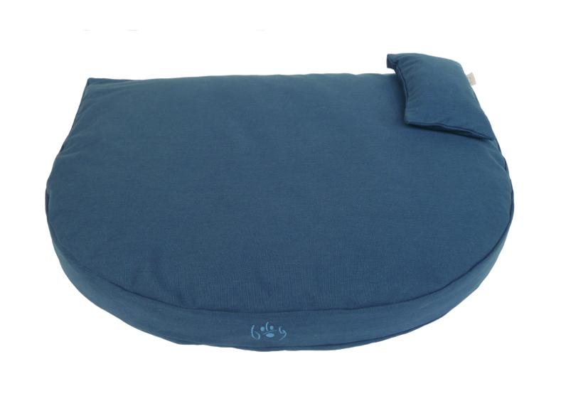 Organic Dog Bed dark blue / Bio Hundebett dunkelblau  #organicdogbed #organic #bio #dogbed #biohundebett #organicfabrics
