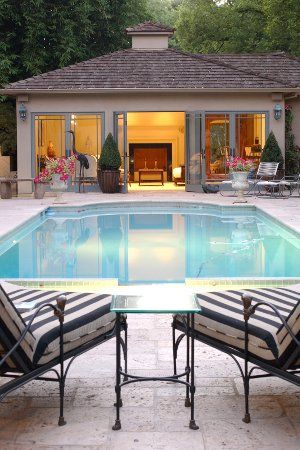 7 Big Ideas For Small Pool Houses Pool Pricer Small Pool Houses Pool House Interiors Luxury Pool House